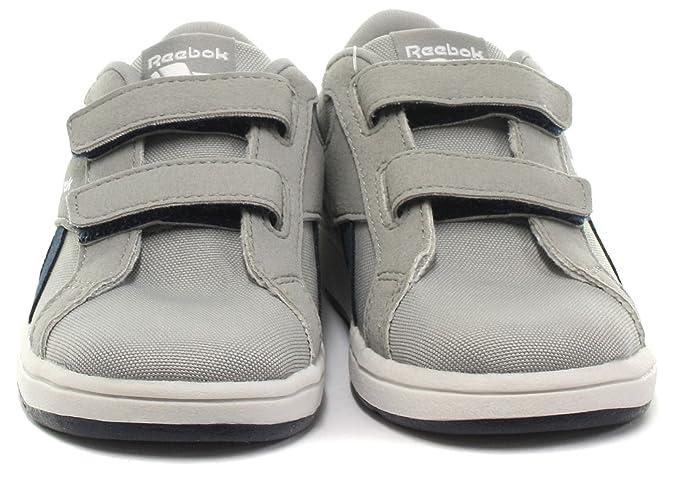 Reebok Royal Comp L2V Cvs, Zapatos de Primeros Pasos Unisex Bebé, Negro/Azul/Blanco (Black/Electric Blue/White), 22