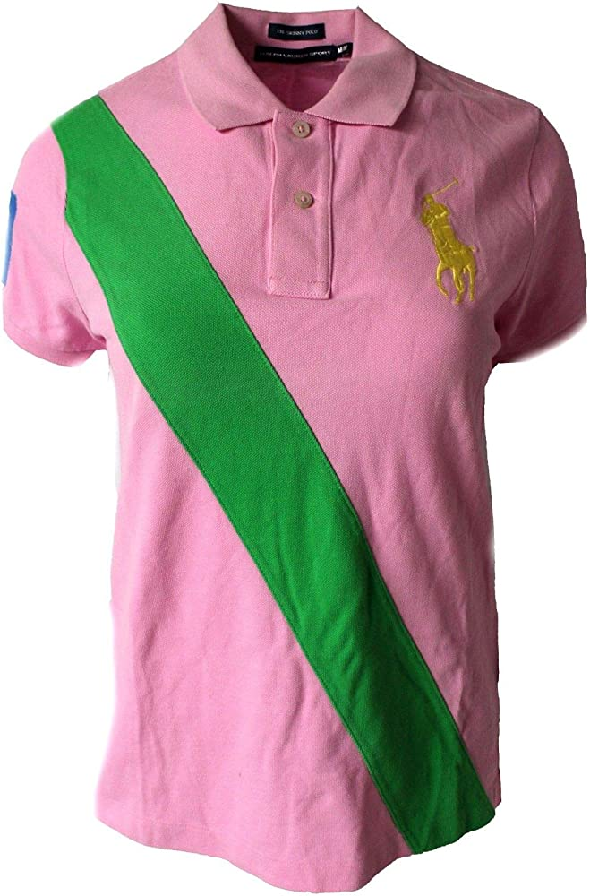 Polo Ralph Lauren - Polo - para Mujer Rosa Rosa L: Amazon.es: Ropa ...