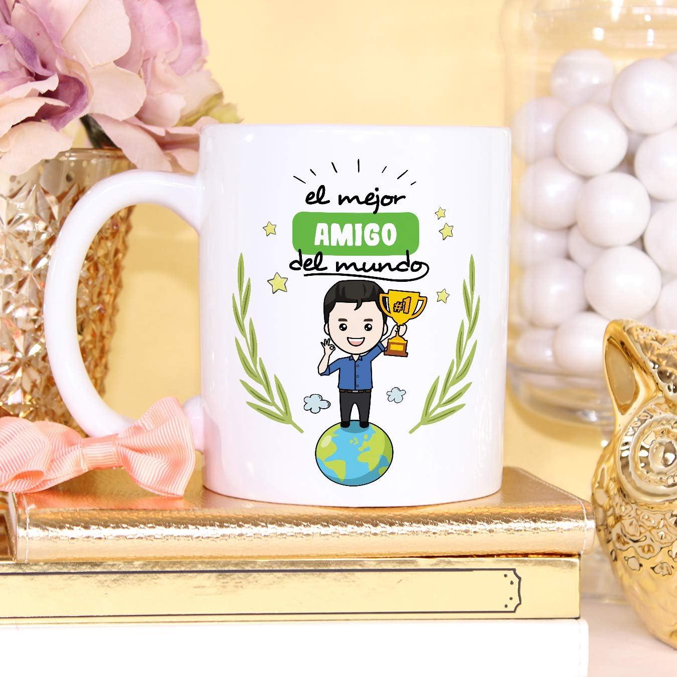 La Mejor Abuela del Mundo Taza Desayuno//Idea Regalo Original//D/ía de la Madre para Abuelitas MUGFFINS Taza Abuela Cer/ámica 350 mL