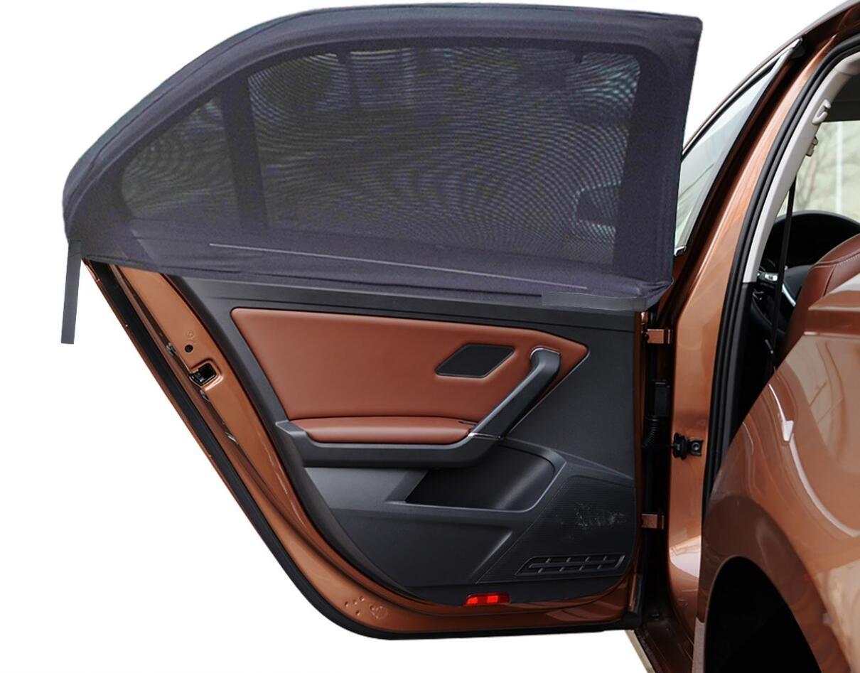 MIDWEC [Pack di 4] Tendine Parasole Auto Bambini- Design a Doppio Strato, si Adatta alla Maggior Parte delle Auto (4 Sagome)
