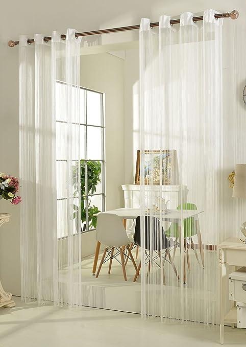 Fadengardine Fadenstore Vorhang Mit Osen Raumteiler 140 X 250 Cm