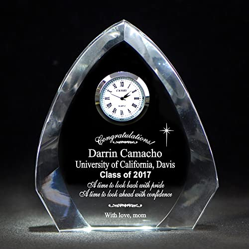Thanh 39 Personalized Gifts – Graduation Premier Crystal Arch Clock