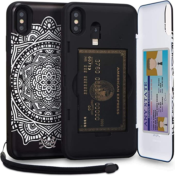 Strap 2018 Mirror /& Lightning Adapter iPhone Xs Max - Dreamcatcher TORU CX PRO iPhone Xs Max Wallet Case Pattern Mandala with Hidden Credit Card Holder ID Slot Hard Cover