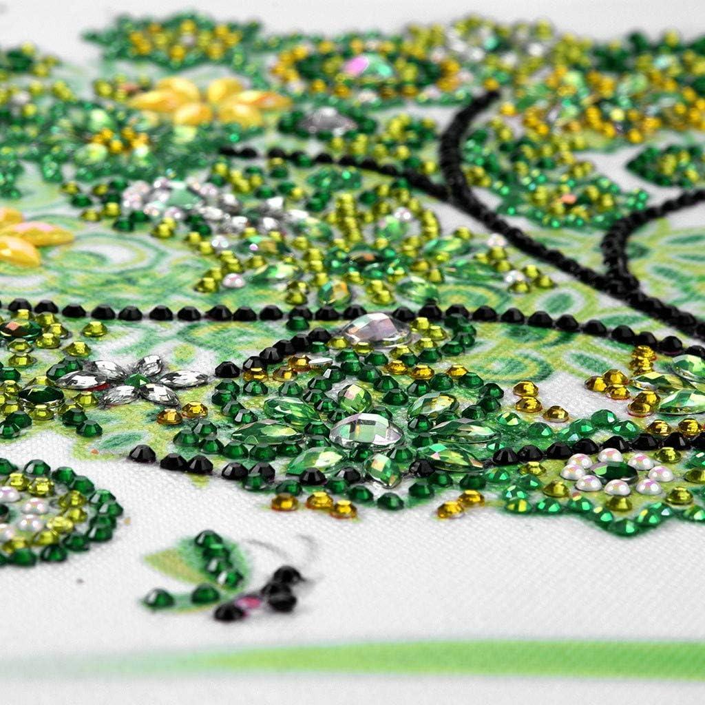 Full Drill DIY Diamond Rhinestone Figure//Animal//Tree Pictures Embroidery Paint by Diamonds Cross Stitch Art Craft Home Wall D/écor Gift 5D Diamond Painting Kit B