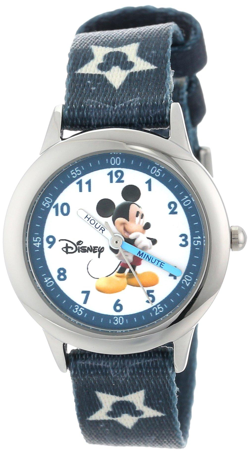Disney Kids' W000015 Mickey Mouse Stainless Steel Time Teacher Watch by Disney