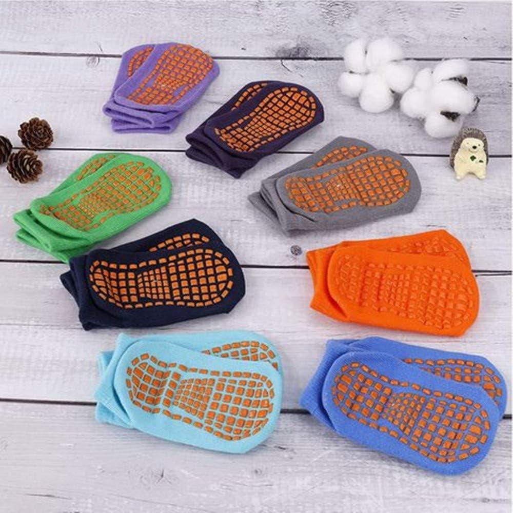 8 paires cheville pour enfants Copiel Chaussettes antid/érapantes pour tout-petit coton avec poignets Chaussettes de sol antid/érapantes /à coupe basse et chaudes pour 1-3 ans B/éb/és gar/çons et filles