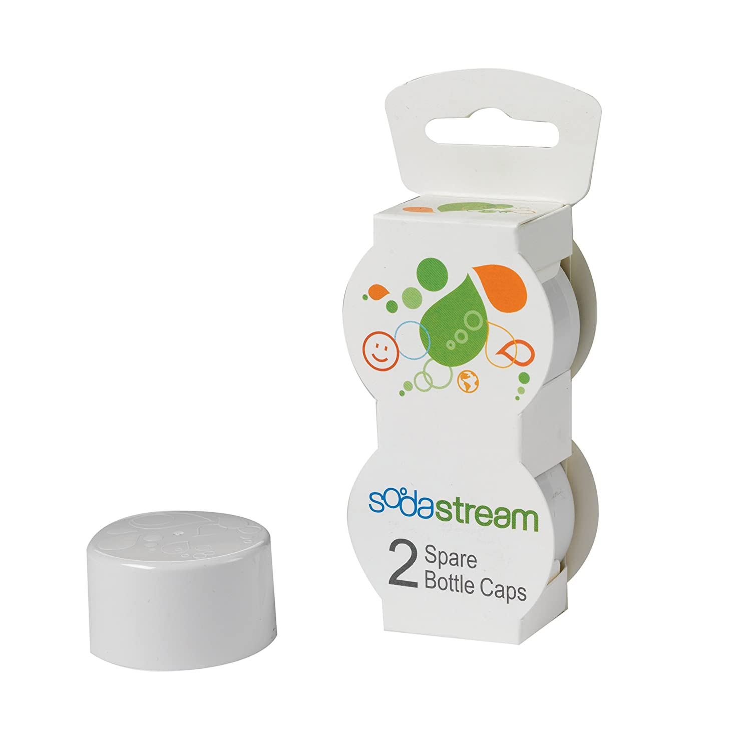 sodastream bottle caps white 2 pack soda maker