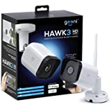 Geeni Hawk 3 HD 1080p Outdoor Security Camera, IP66 Weatherproof WiFi Surveillance with Night Vision and Motion Detection, Co
