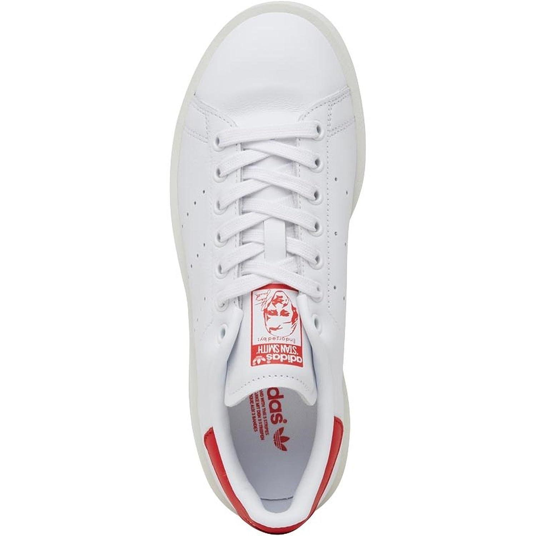 brand new 073a7 dc236 adidas Originals Stan Smith Bold W, Running White-Running White-Collegiate  Red, 9,5  Amazon.it  Scarpe e borse