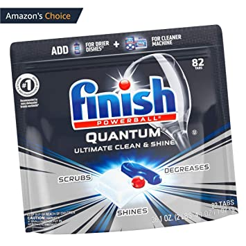 Amazon.com: Finish Quantum - Detergente para lavaplatos, 82 ...