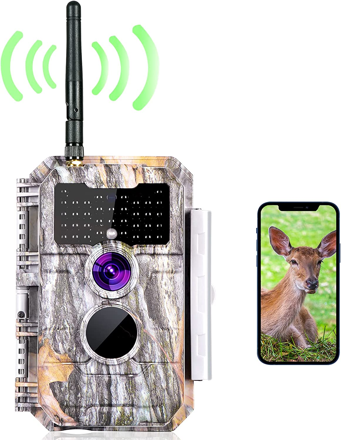 Details about  /2-Pack No Glow Trail Game Deer Cameras 20MP 1080P H.264 Video Night Vision Mo...