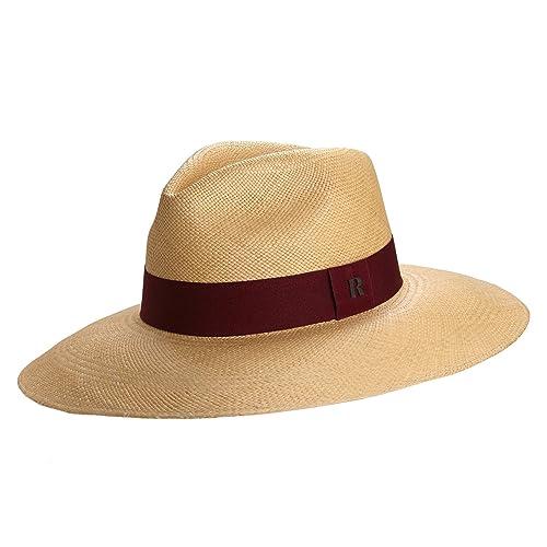 c0c77e8512bd2 RACEU ATELIER Sombrero Panamá Ala Ancha Eva Camel - Sombrero de Paja Estilo  Fedora - Sombreros