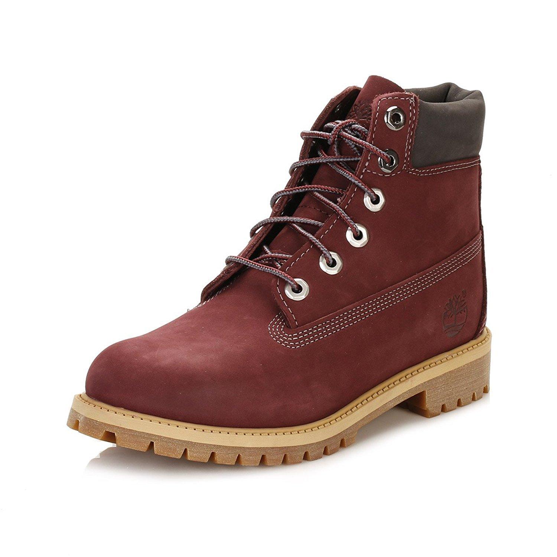 Timberland 6'' Premium Waterproof Boot (Big Kid) (7 Big Kid M, Dark Port)