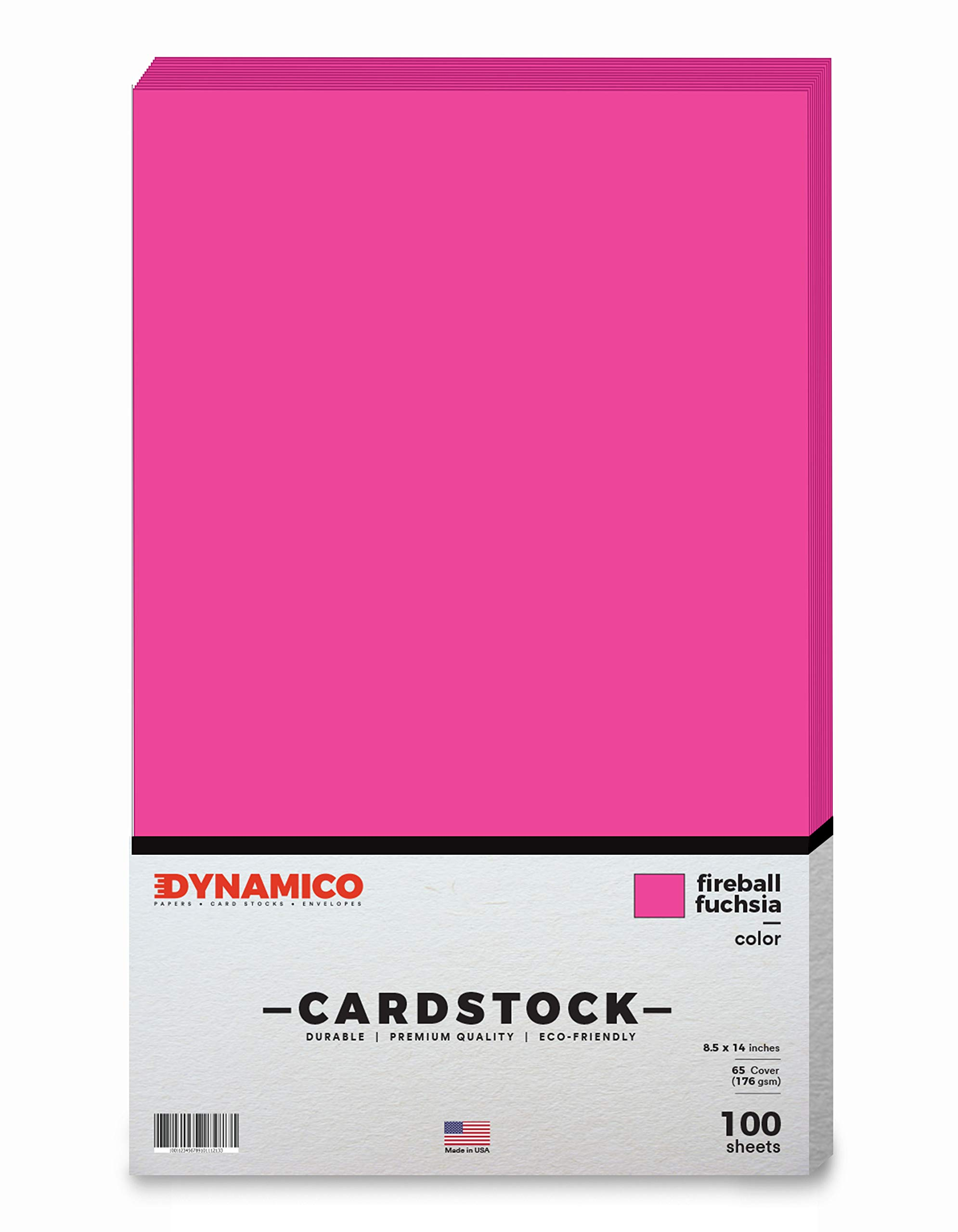 Fireball Fuchsia 8.5 x 14'' Cardstock Paper - Legal/Menu Size - for Cards, and Stationery Printing | Medium weight 65 LB (175 gsm) Cover Card Stock | 100 Sheets Per Pack