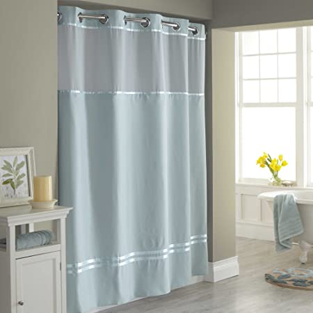 Hookless Escape 54 Inch X 80 Fabric Shower Curtain And Liner
