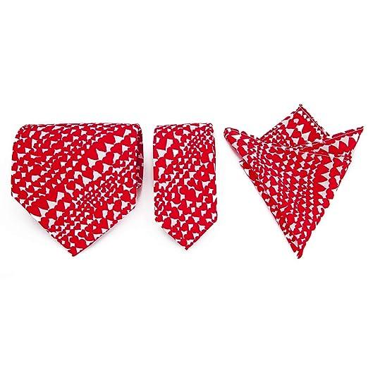 Para hombre The Mackintosh corazones redsilk Tie Set, con bolsillo ...