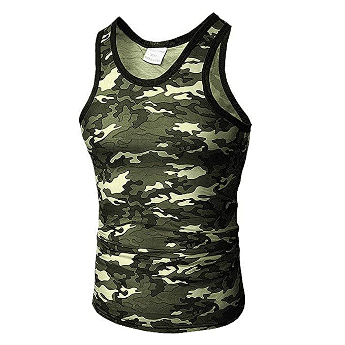 180a9059aecd3 Image Unavailable. Image not available for. Color  Men s Camouflage Tank top  ...