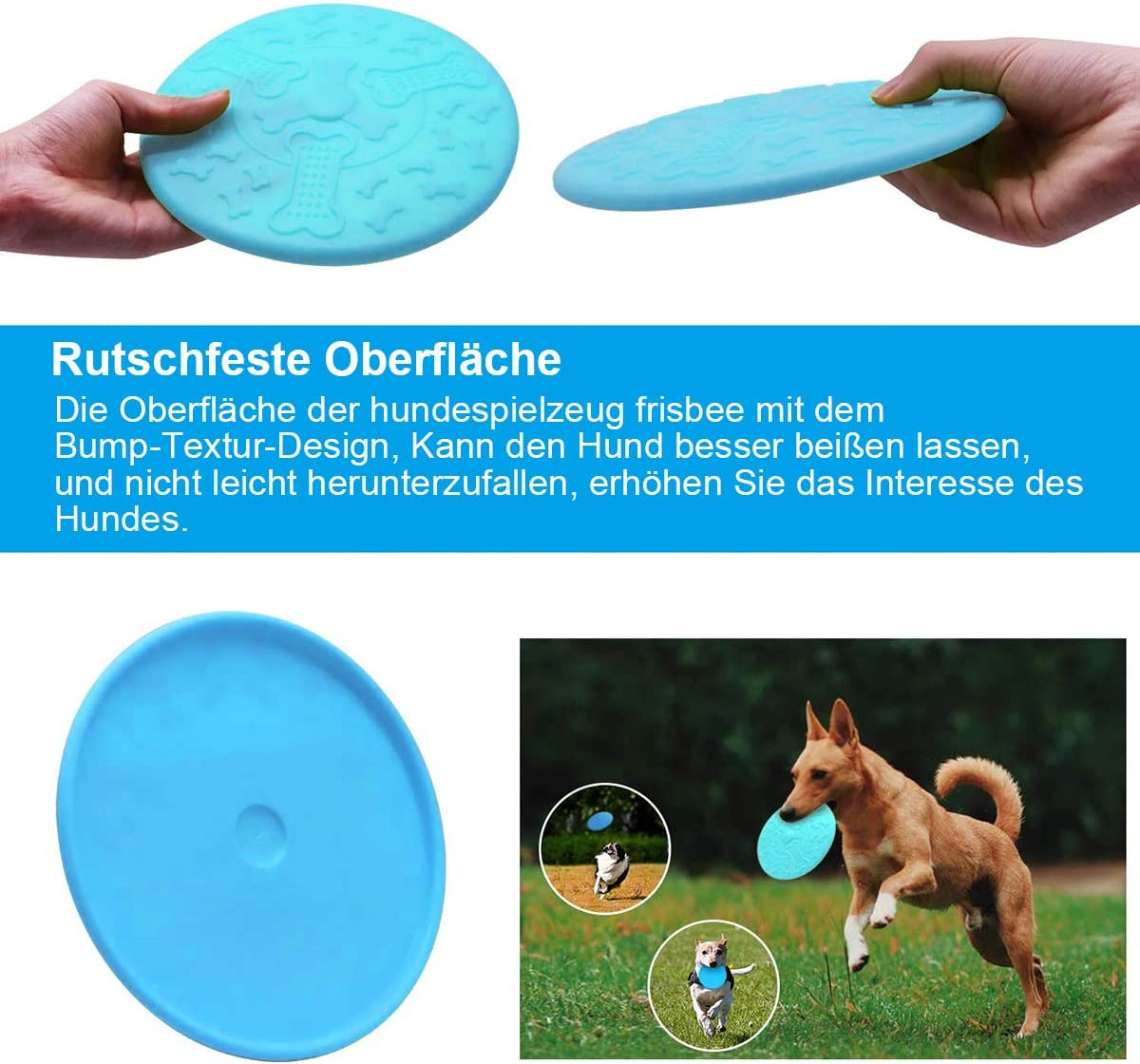 throwing MICHETT Frisbee . perfect Frisbee disc toy for dogs durable training dog toy dog training 3 pieces playing and catching natural rubber dog frisbee 18 cm