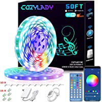 Cozylady LED Strip Lights 50FT - Smart LED Light Strips Compatible with Alexa,Google Home Controlled by Smart APP…