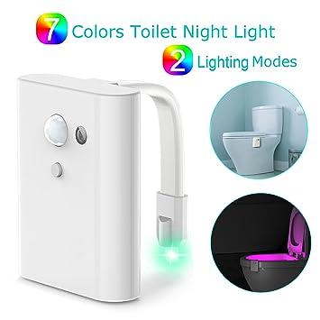 Para inodoro luz de noche, Arvin Sensor de movimiento LED inodoro luz de noche Sensor