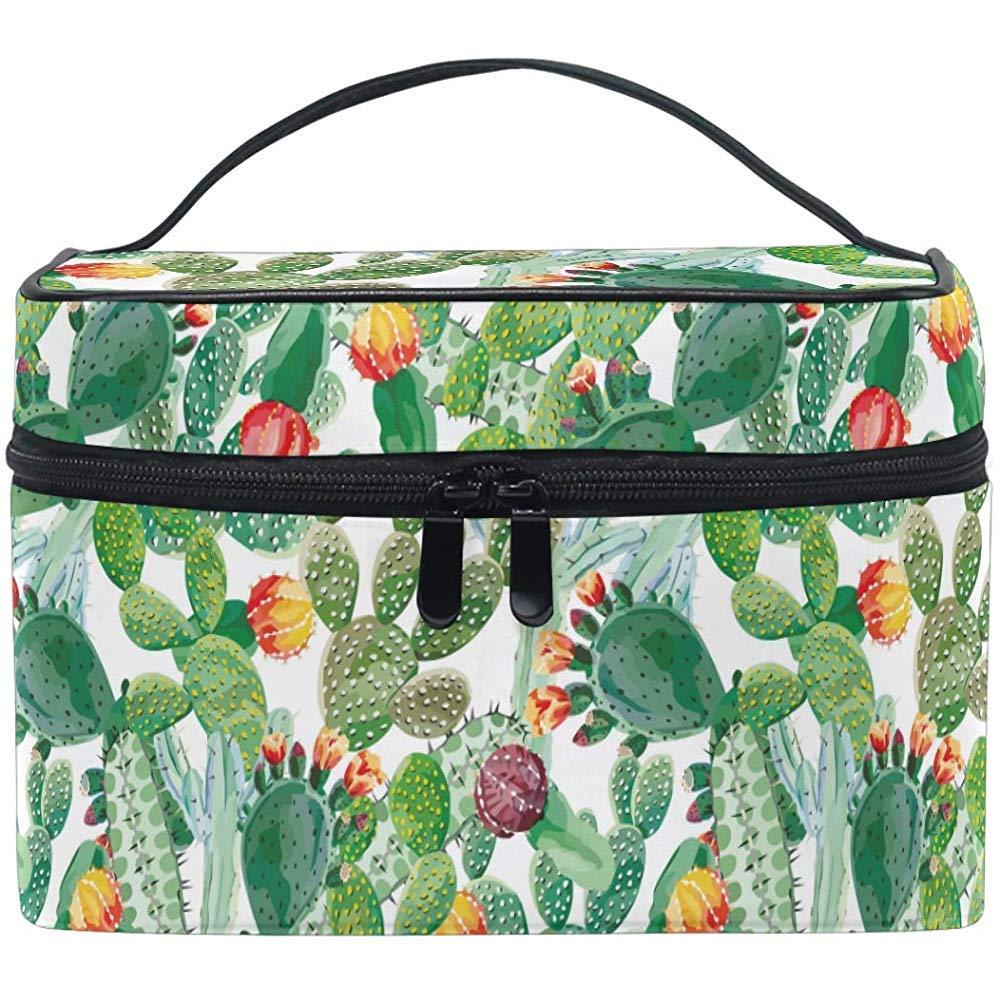 Exótico Natural Vintage Cactus Patrón Bolsa de cosméticos Bolsa de ...