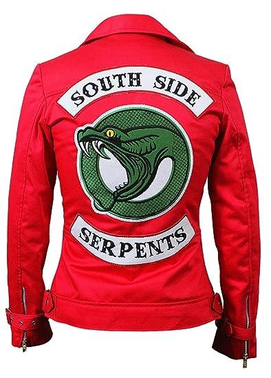 más de moda nueva lanzamiento precio competitivo LP-FACON para Mujer Southside Serpientes Riverdale Slim Fit Biker Chamarra  de Piel