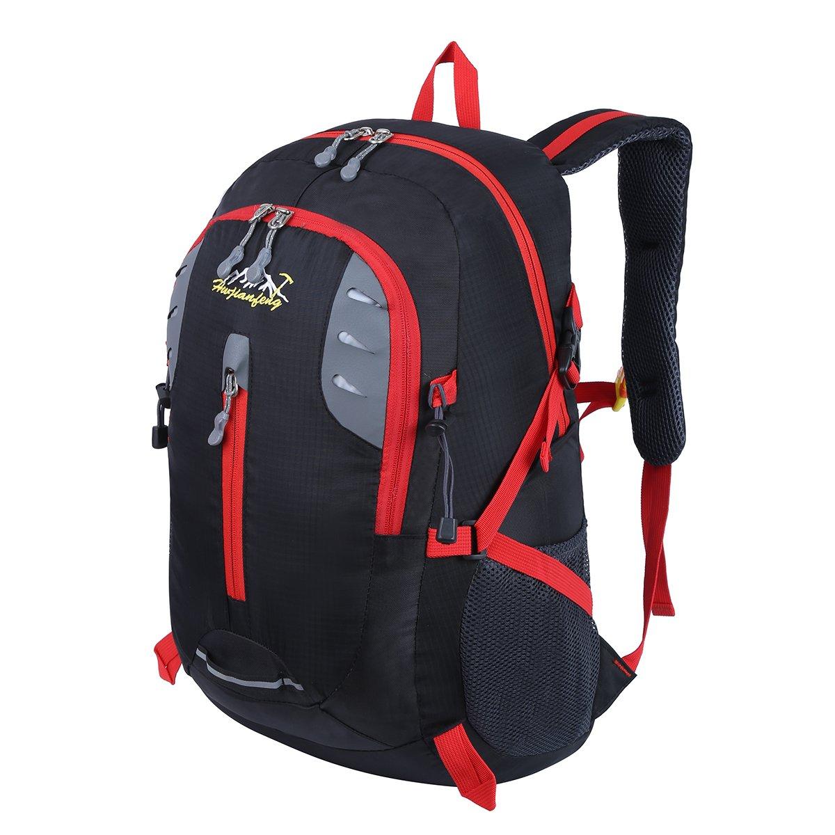 HWJIANFENG 30L Mochilas de Senderismo para Montaña de Acampadas de Nylon Mochilas de Excursion para Viajes Unisex de Ciclismo color Negro: Amazon.es: ...