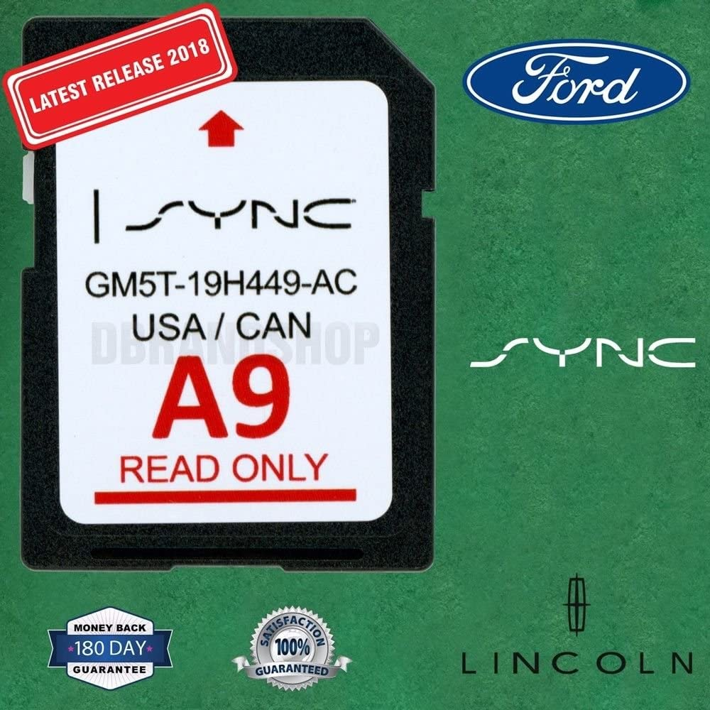 Ford /& Lincoln A8 SYNC Navigation System Map Update for US /& Canada NEW for 2017 LATEST SD Card for F150 Escape Explorer Flex Fusion Taurus Mustang /& More GM5T-19H449-AB