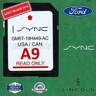 Ford Lincoln A9 Sync - Tarjeta SD de navegación 2019 US ...