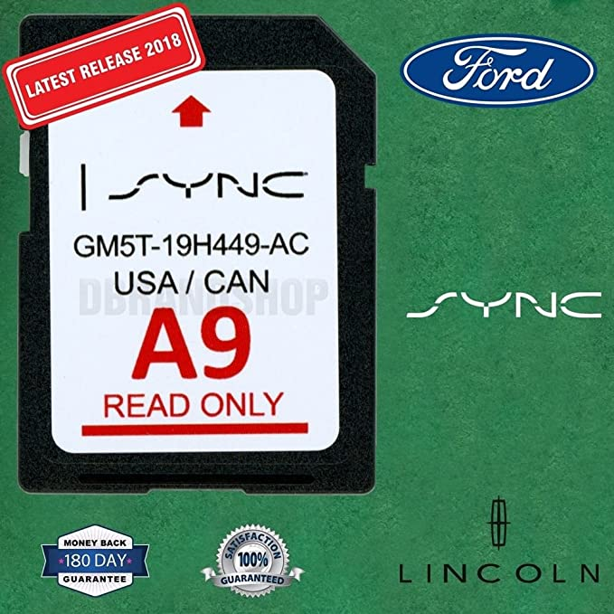 Ford Lincoln A9 SYNC SD Card Navigation 2019 US/Canada Map Updates A8 A7 A6 A5