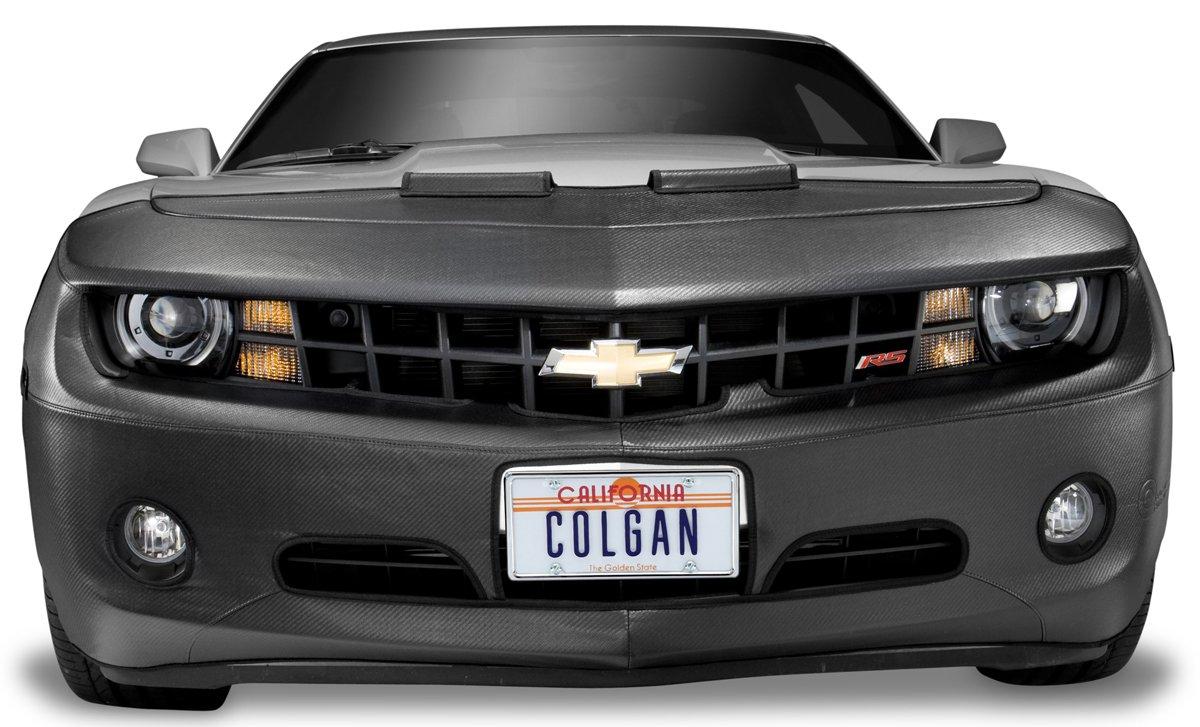 Colgan Custom Fit Original Front End Mask for Select Honda Accord Models Black Carbon Fiber