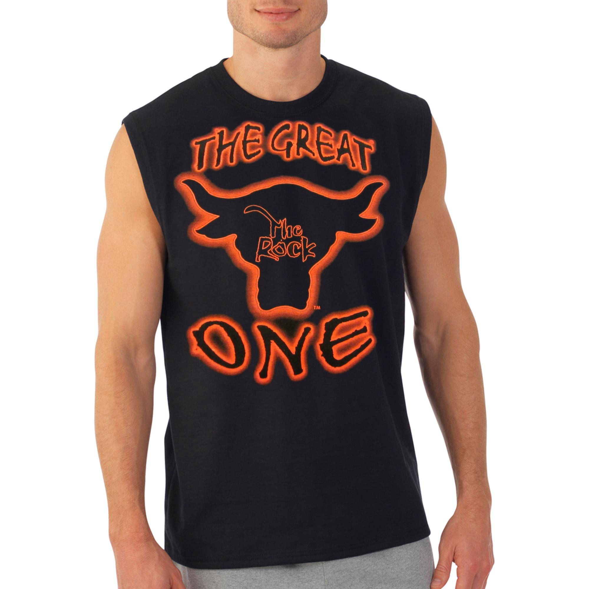 The Rock Great One Mens Sleeveless Black Muscle T-Shirt-XXL