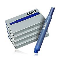 Lamy T10: Quatres Etuis de 5 Cartouches d'Encre, Couleur: Bleu (20 Cartouches au Total)