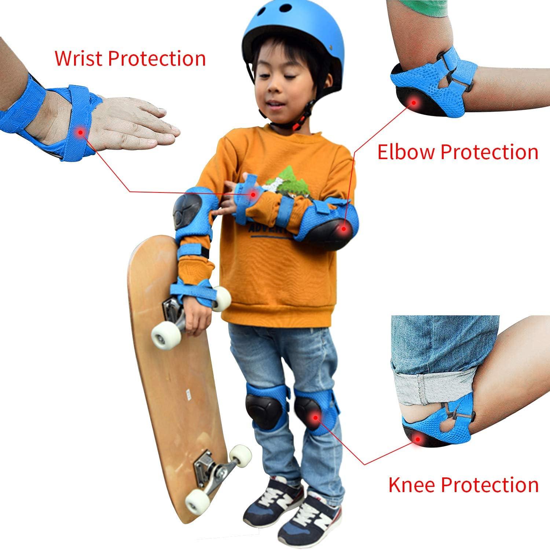 KeFanta Kids kneepads and Elbow Pads,Toddlers Knee Pad Wrist Guards,Kid Bike Protective Gear for Age 3-8 Boys Girls Children Roller Skating Rollerblading Skateboard Scooter