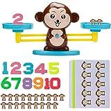 Vintoney Montessori Mathe våg leksak, apor balance leksak djurvågar, siffror och räkningar, matematidogiska leksaker…
