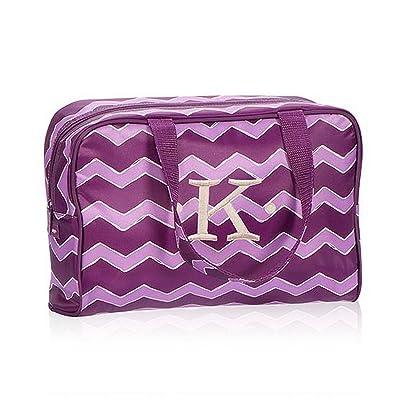 Thirty One Handle-It Cosmetic Bag in Plum Chevron - No Monogram - 4815