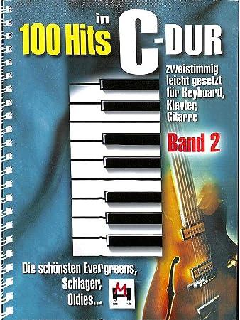 100 Hits en C de DuraSec banda 2 – Mejores Evergreens, Schlager, oldies – Fácil fijado para teclado, Piano, Guitarra – con herzförmiger Ordenador ...