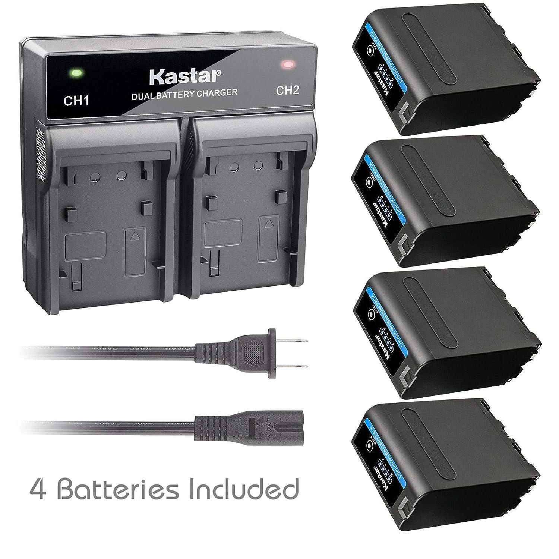 Kastar バッテリー急速デュアル充電器 CH08-F990PRO-1 F990PRO NP-F990PRO用 B07GM8W88S  4 Batteries + 1 Charger