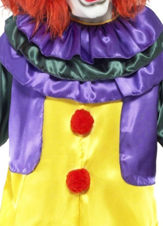Karnevalsbud Karnevalsbud Karnevalsbud - Herren Kostüm Horror Clown mit Jumpsuit und Maske mit Haar, L, Gelb 2d4f2e