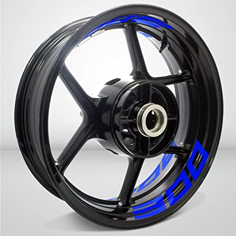 Amazon.com: Gloss Blue Motorcycle Inner Rim Tape Sticker ...
