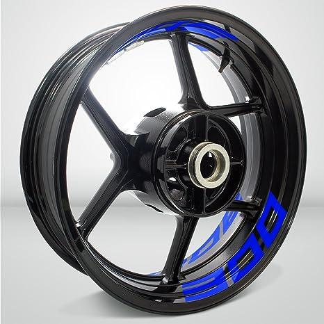 Amazon.com: Gloss Blue Motorcycle Inner Rim Tape Sticker ...