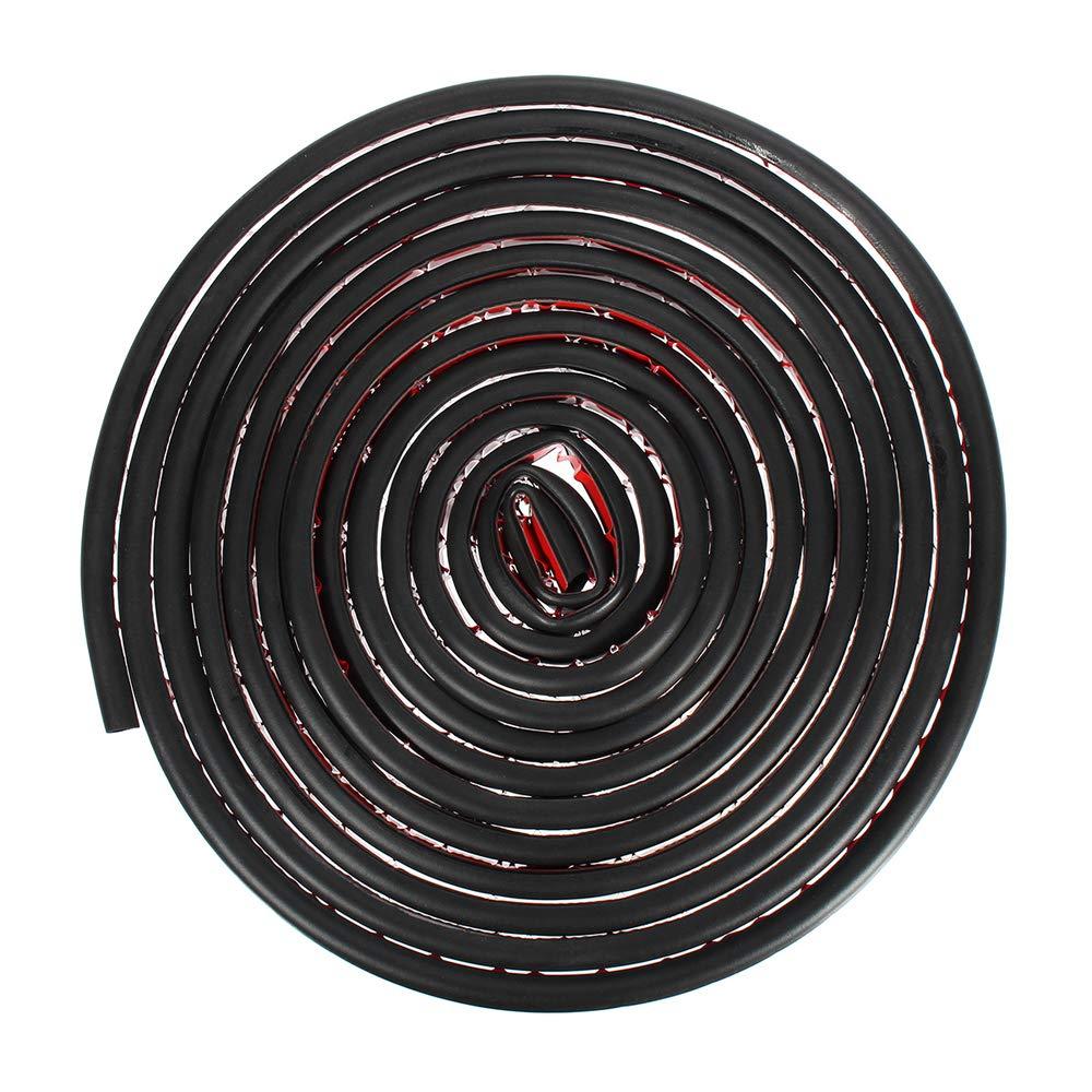 Carrfan 8M Bordure de moulure en Caoutchouc Noir pour Joints de vitre de Porte de Voiture Grande Taille en Forme de D