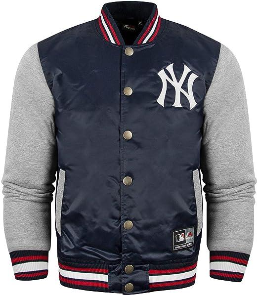 Majestic - Chaqueta de béisbol oficial de los New York Yankees