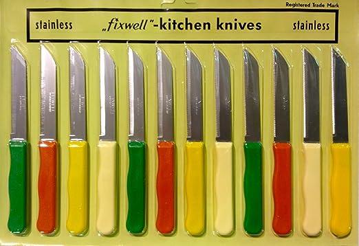 Nexxa-Fixwell Juego de cuchillos de acero inoxidable, 12 ...