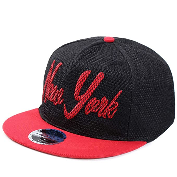 Korean Style New York Embroidery Baseball Caps Gorras Planas Hip Hop Hats Women Men Camping NY Mesh Snapback at Amazon Womens Clothing store: