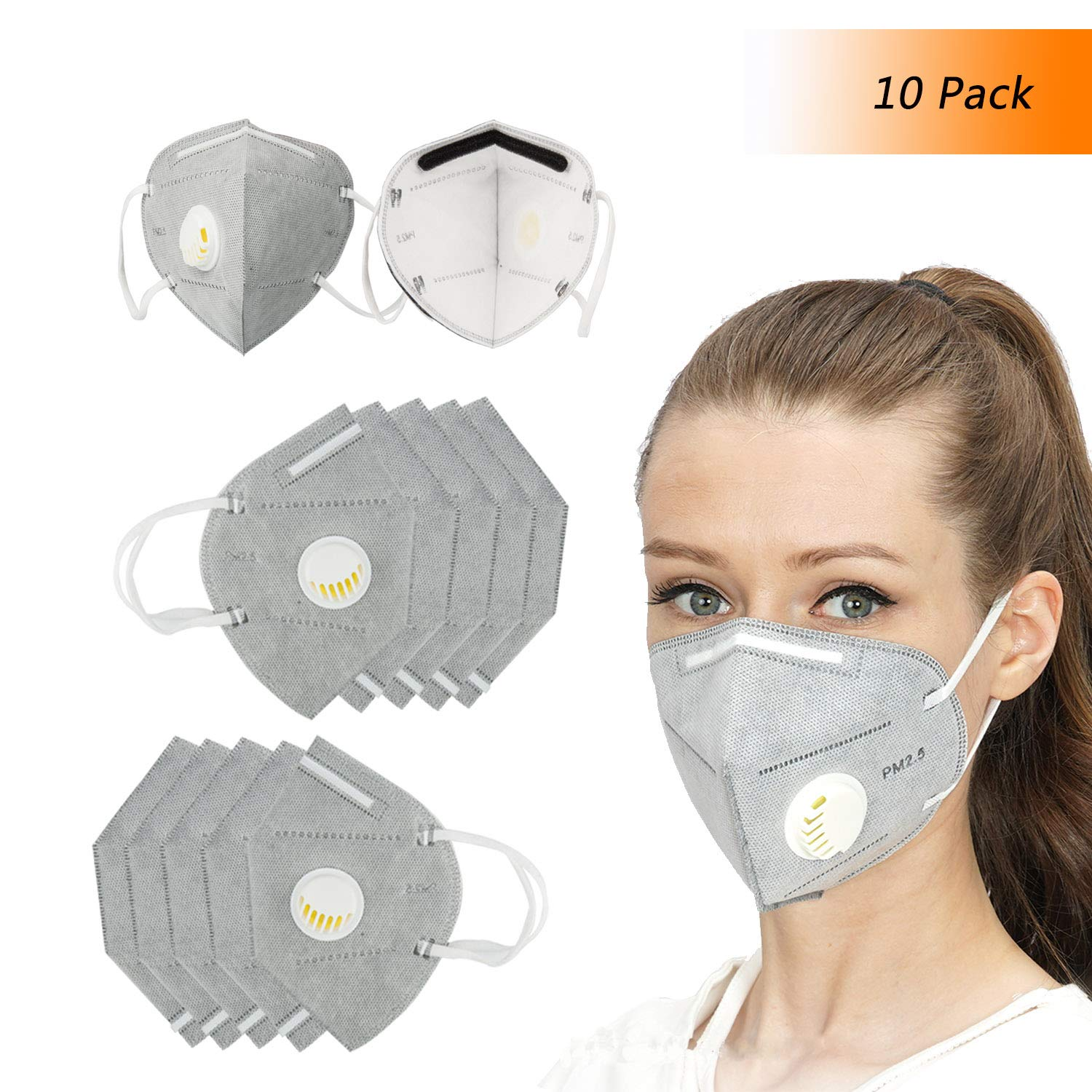 Gray Disposable Work Masks Winko For With 7 Flat Unisex Protection Face Mask Building Filter Mouth Layer N95 Dust respirator Fold