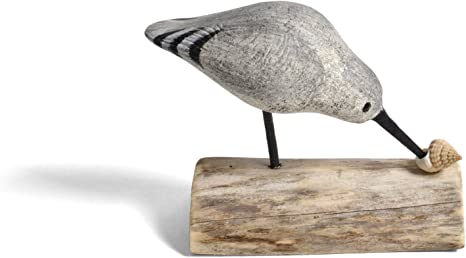 Amazon Com The Painted Bird By Richard Morgan Carved Sandpiper Figurine Home Kitchen