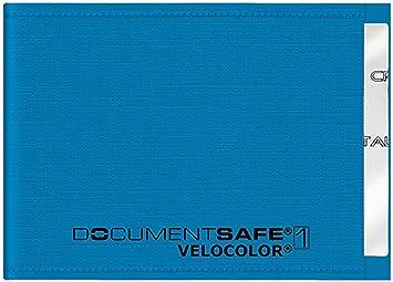 Veloflex 3271351 Document Safe Kartenhülle Kreditkartenhülle Rfid Nfc Schutz Rfid Blocker 90 X 63 Mm Blau Bürobedarf Schreibwaren
