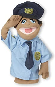 Melissa & Doug Police Officer Puppet (Detachable Wooden Rod for Animated Gestures, Ideal for Left- or Right-Handed Children,