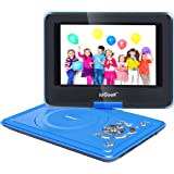 "ieGeek 9.5"" Portable DVD Player with 360° Swivel Eye Protection Screen, 5 Hour Rechargeable Battery, Supports SD Card and USB, Direct Play in Formats MP4/AVI/RMVB/MP3/JPEG, Blue"